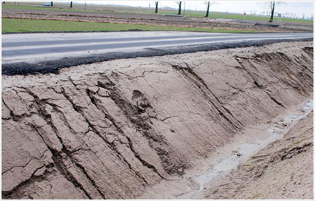 Kontrola erozji skarpy nasypu